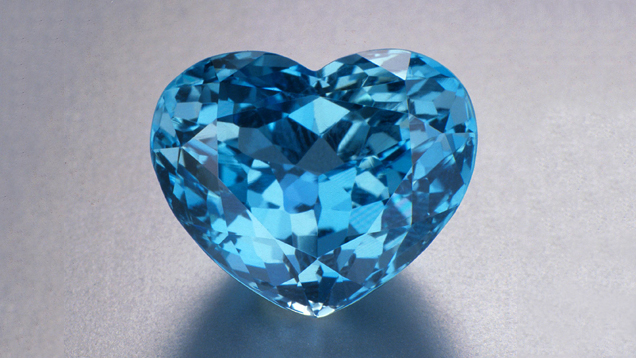 Aquamarine, heart-shape, from Brazil, 32.10 cts